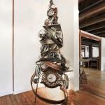 albero di natale metallo