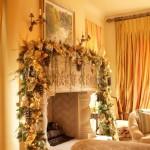 decorazioni natale camino