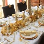 tavola di natale  stile barocco